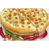 Пицца с курицей и томатами черри