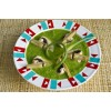 Суп-пюре со шпинатом, стрелками чеснока и грибами
