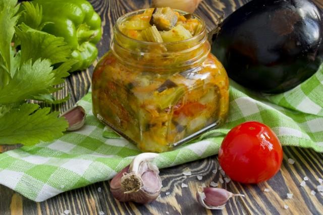 Рагу из овощей, запеченных на противне